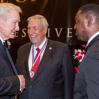 Bud Moore, Gene Stallings and Antonio Langham